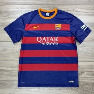 Nike FC Barcelona Dri Fit Authentic Soccer Jersey